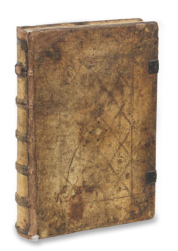 Biblia latina - Sensenschmidt-Bibel, mit Barock-Buchständer. -