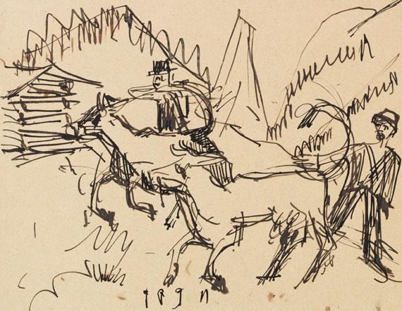 Ernst Ludwig Kirchner - Hirten und Kühe auf der Stafelalp