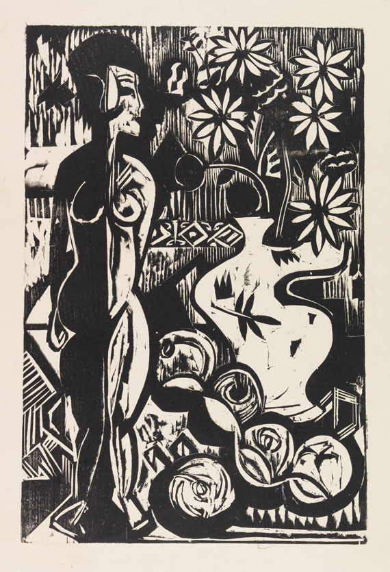 Ernst Ludwig Kirchner - Stilleben mit Plastik