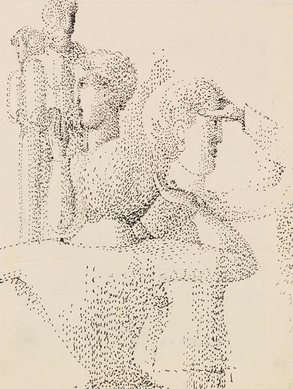 Oskar Schlemmer - Gruppe pointilliert