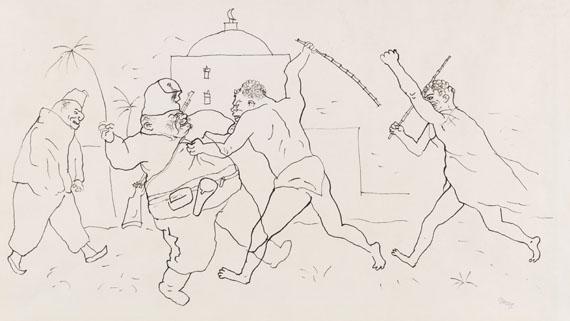 George Grosz - Tartarin kämpft für die Freiheit des Löwen