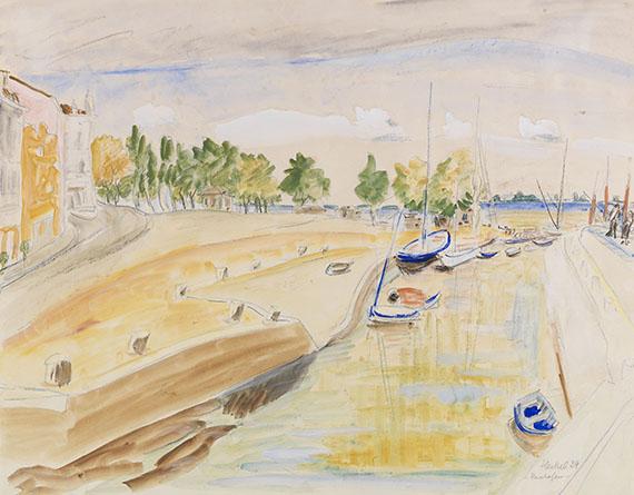 Erich Heckel - Flusshafen