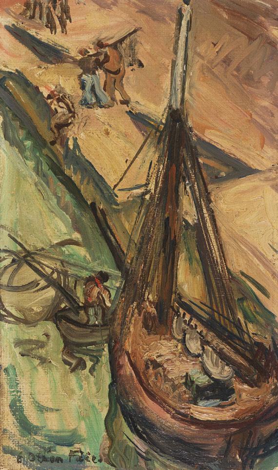 Emile-Othon Friesz - Segelkutter an der Kaimauer