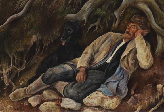 Albert Birkle - Ruhender im Wald