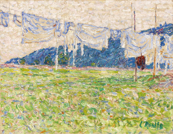 Christian Rohlfs - Wäsche auf der Leine