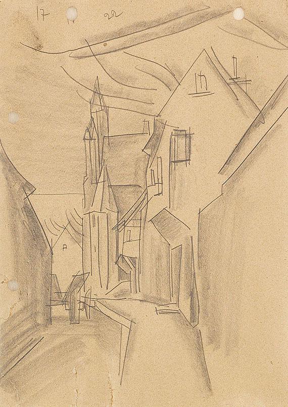 Lyonel Feininger - Strasse in Neubrandenburg