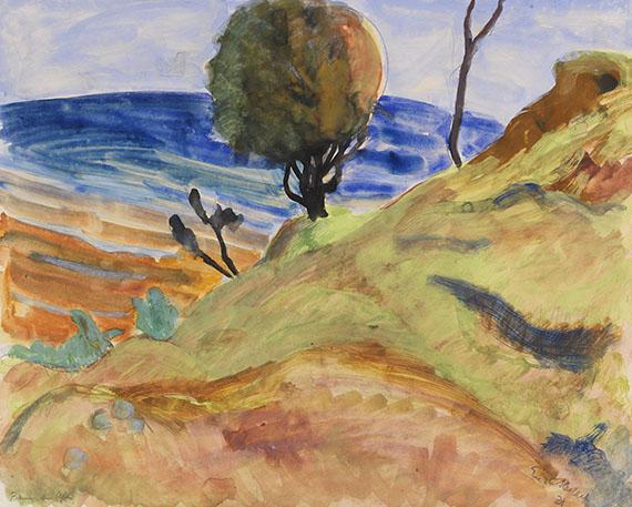 Erich Heckel - Baum am Ufer