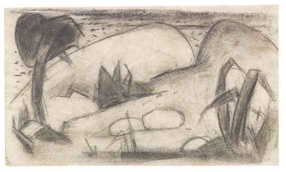Franz Marc - Abstrahierte exotische Landschaft