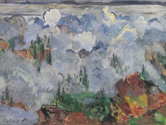 Oskar Moll - Wolken im Gebirge