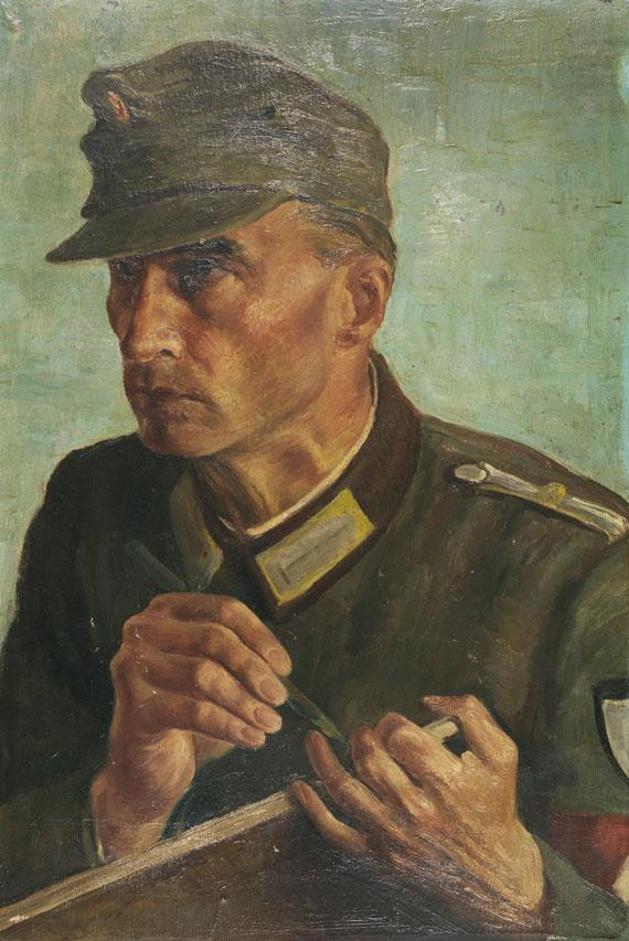 Albert Birkle - Selbstbildnis als Kriegsberichter