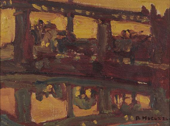 Adolf Hölzel - Eisenbahnbrücke