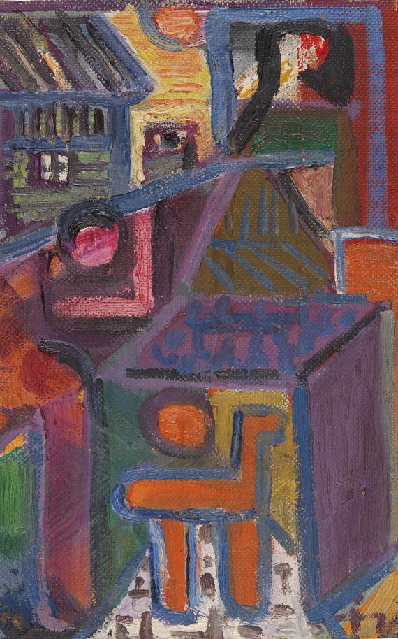 Ida Kerkovius - Komposition (Kleines Städtebild)