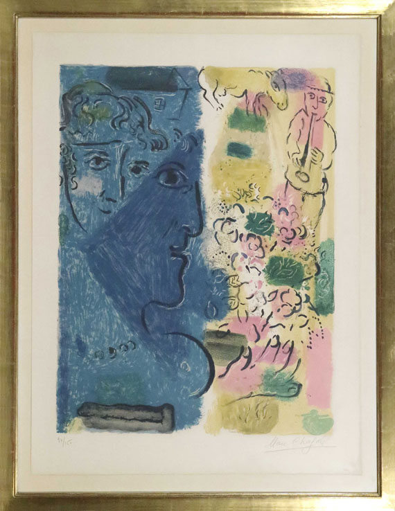 Marc Chagall - Le profil bleu - Rahmenbild