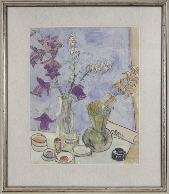Erich Heckel - Glockenblumen (Blumen) - Frame image