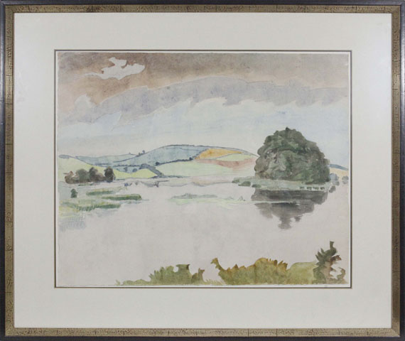 Erich Heckel - Rüdesee in Angeln - Rahmenbild