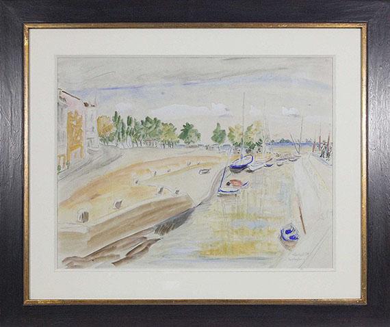 Erich Heckel - Flusshafen - Rahmenbild