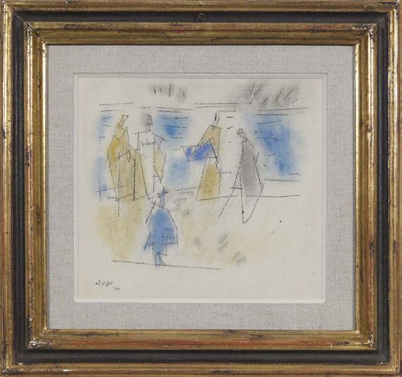 Lyonel Feininger - Fünf Personen am Strand - Rahmenbild
