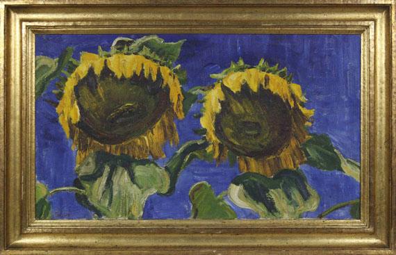 Arnold Balwé - Sonnenblumen - Rahmenbild