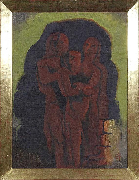 Karl Hofer - Drei Maskenfiguren - Frame image