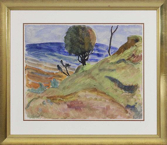 Erich Heckel - Baum am Ufer - Rahmenbild