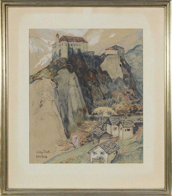 Leo Putz - Schloss Tirol - Rahmenbild