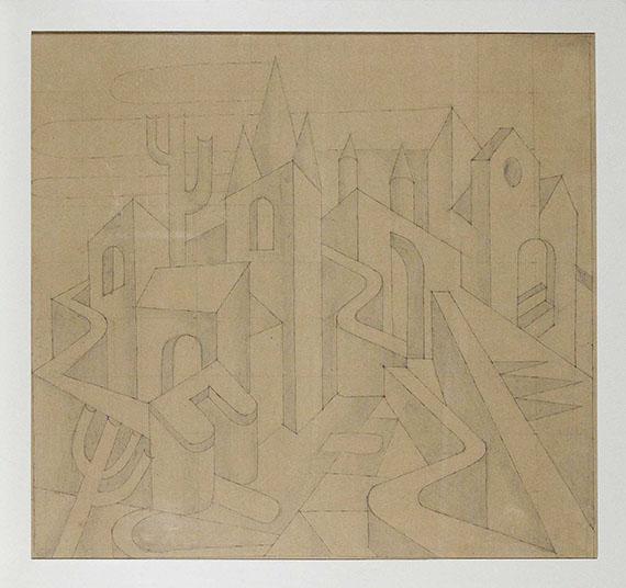 Fortunato Depero - Paesaggio - Rahmenbild