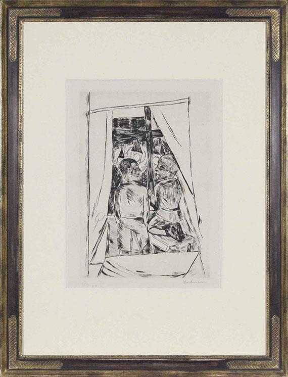 Max Beckmann - Kinder am Fenster - Rahmenbild