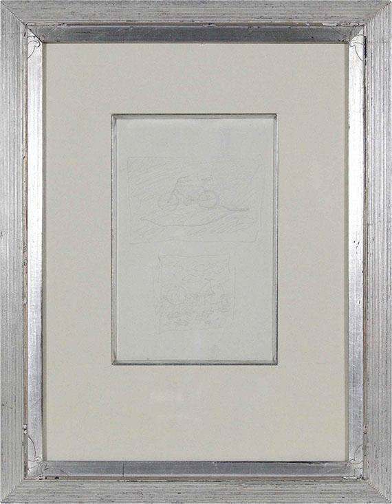René Magritte - Ohne Titel (Fahrrad auf einem Blatt) - Frame image