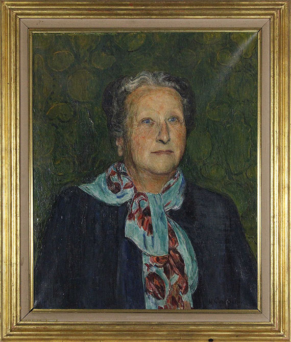 Hans Purrmann - Bildnis Rosette Surbeck - Rahmenbild