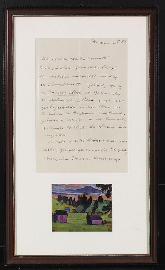 Gabriele Münter - Mit blauem Bogen - Rahmenbild