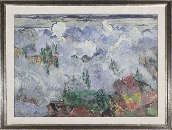Oskar Moll - Wolken im Gebirge - Frame image