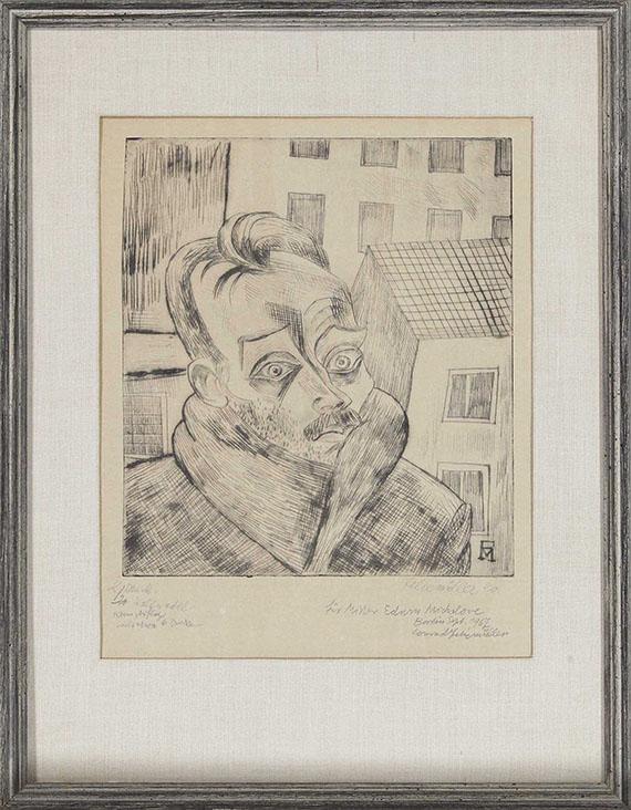 Conrad Felixmüller - Der Arbeitslose (Max John) - Frame image
