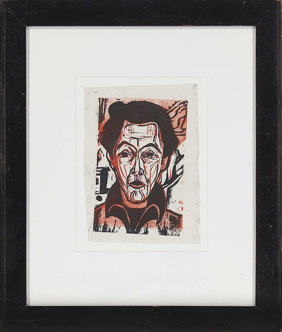 Ernst Ludwig Kirchner - Selbstportrait - Rahmenbild