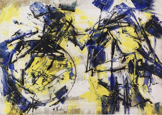 Fred Thieler - O.11.57 Mit gelben Flächen