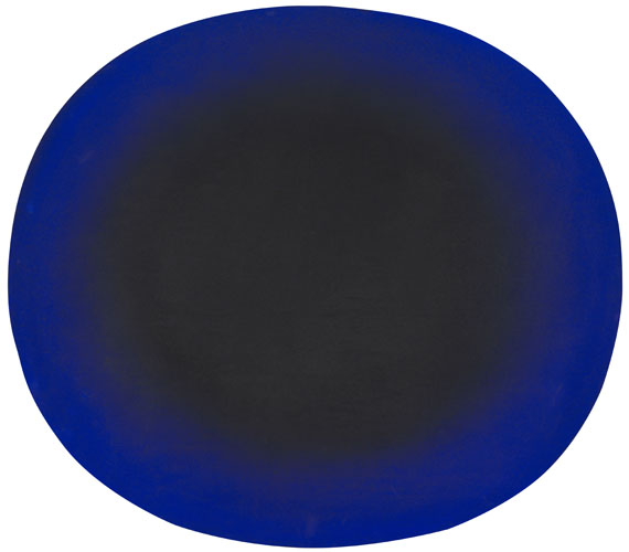 Rupprecht Geiger - A.S. 710/76 (Blau-Schwarz Konzentrisch)
