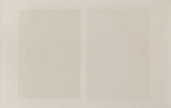 Ulrich Erben - Ohne Titel (Zwei weiße Quadrate)