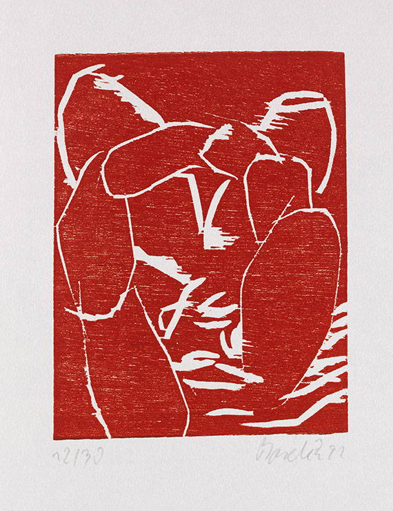Georg Baselitz - 5 Bll: Abstrakte Komposition - Weitere Abbildung