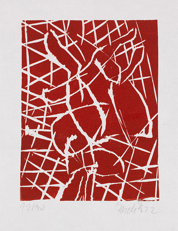 Georg Baselitz - 5 Bll: Abstrakte Komposition