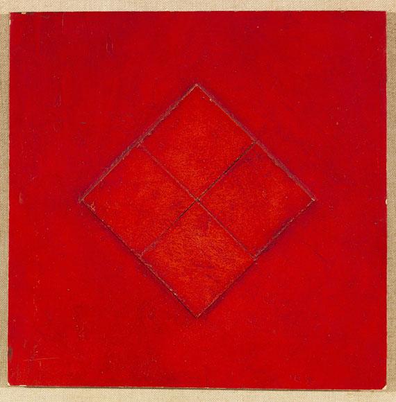 Gottfried Honegger - Ohne Titel (Tableau Relief in Red)
