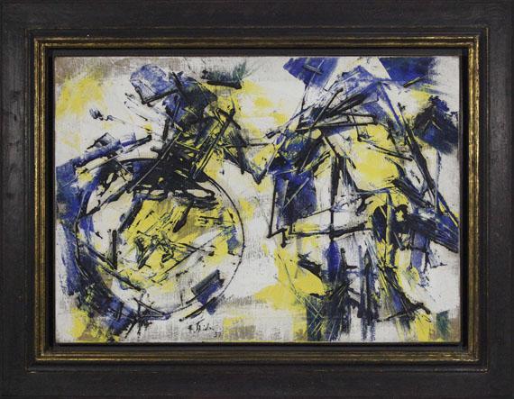 Fred Thieler - O.11.57 Mit gelben Flächen - Rahmenbild