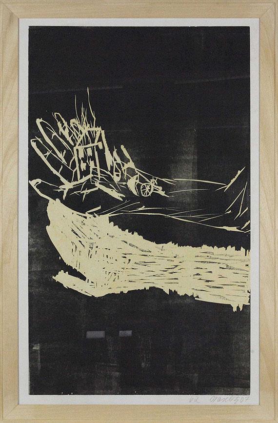 Georg Baselitz - Es in der Hand haben - Rahmenbild