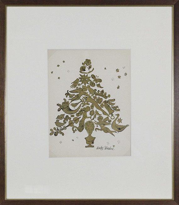 Andy Warhol - Christmas Tree - Rahmenbild