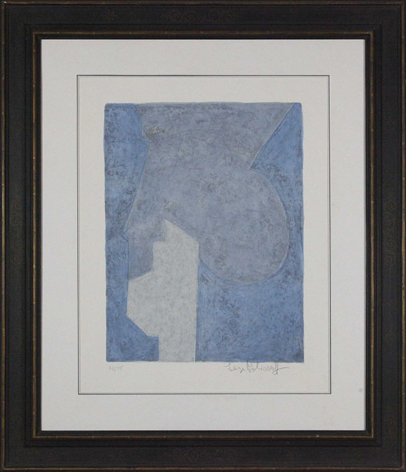 Serge Poliakoff - Composition bleue - Rahmenbild