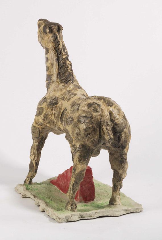 Markus Lüpertz - Trojanisches Pferd - Rückseite