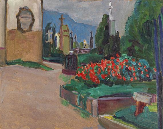 Gabriele Münter - Kirchgarten in Murnau