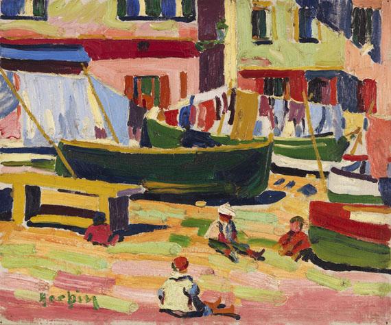 Auguste Herbin - Le vieux port de Bastia