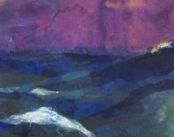 Emil Nolde - Hohe See unter violettem Himmel -