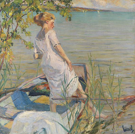 Edward Cucuel - Sommermorgen am Starnberger See