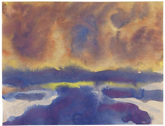 Emil Nolde - Meer mit Wolkenhimmel