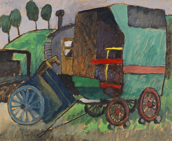Gabriele Münter - Zigeunerwagen II